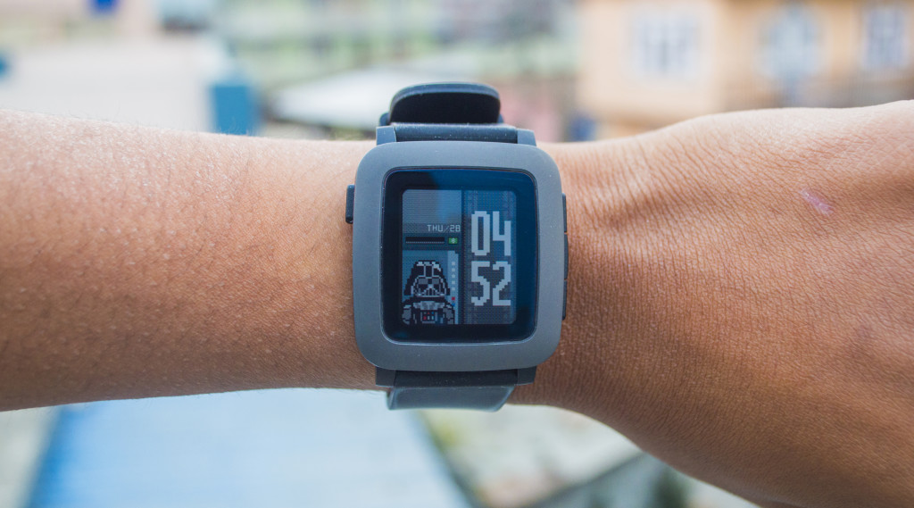 Best Pop Culture Watchfaces for Pebble Time - Darth Time