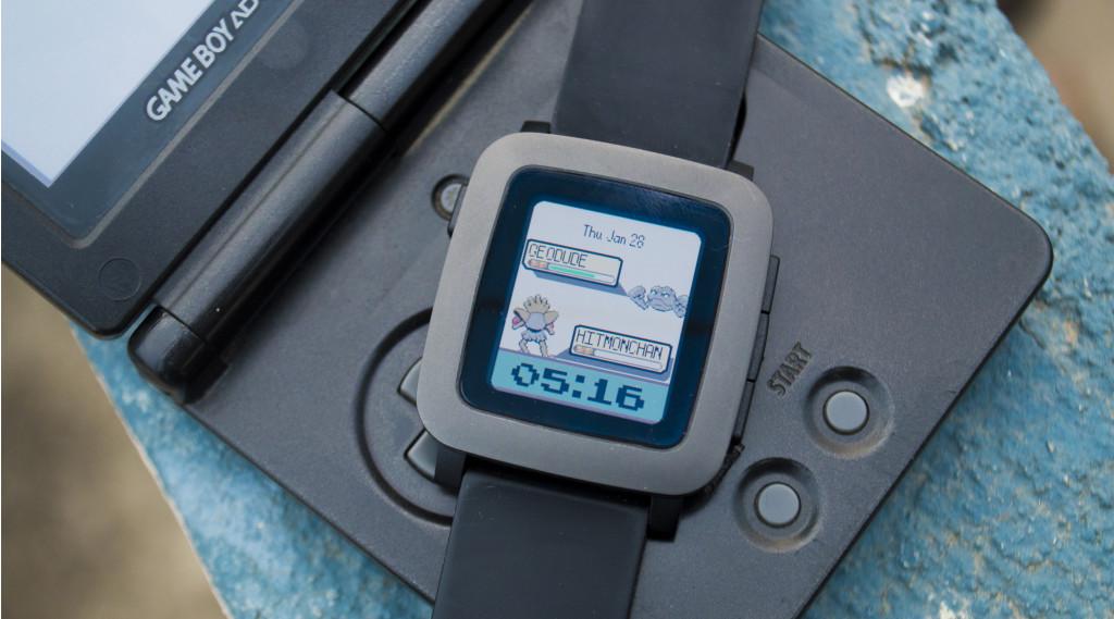 Best Pop Culture Watchfaces for Pebble Time - Pokemon Battle Watchface