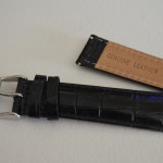 Black Croco Leather Band by Clockwork Synergy