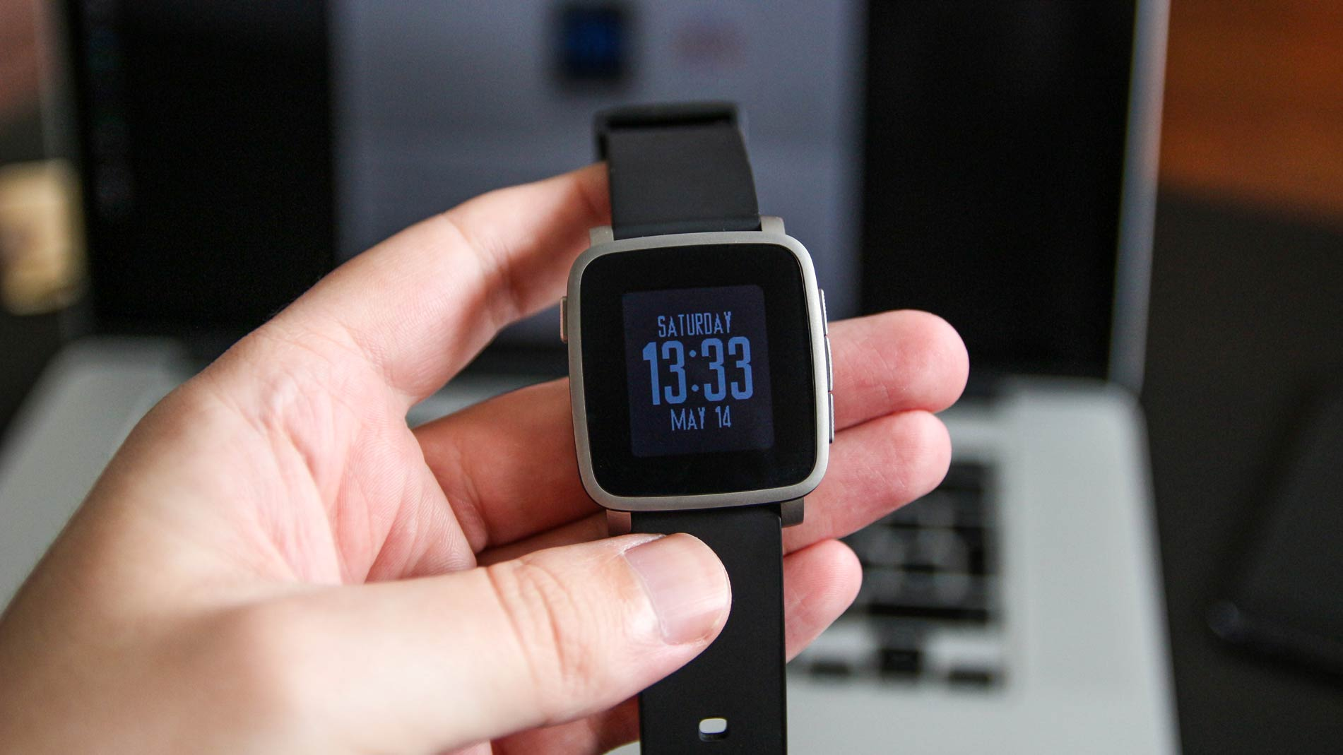 Best Watchfaces for Pebble Time - Blue Futuristic