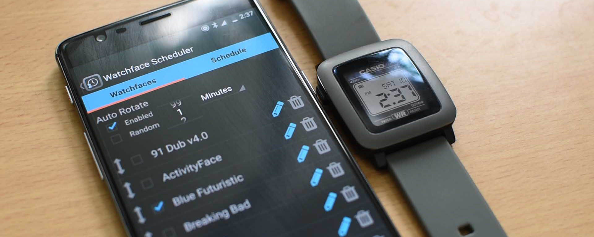 CASIO - Switch between watchfaces automatically