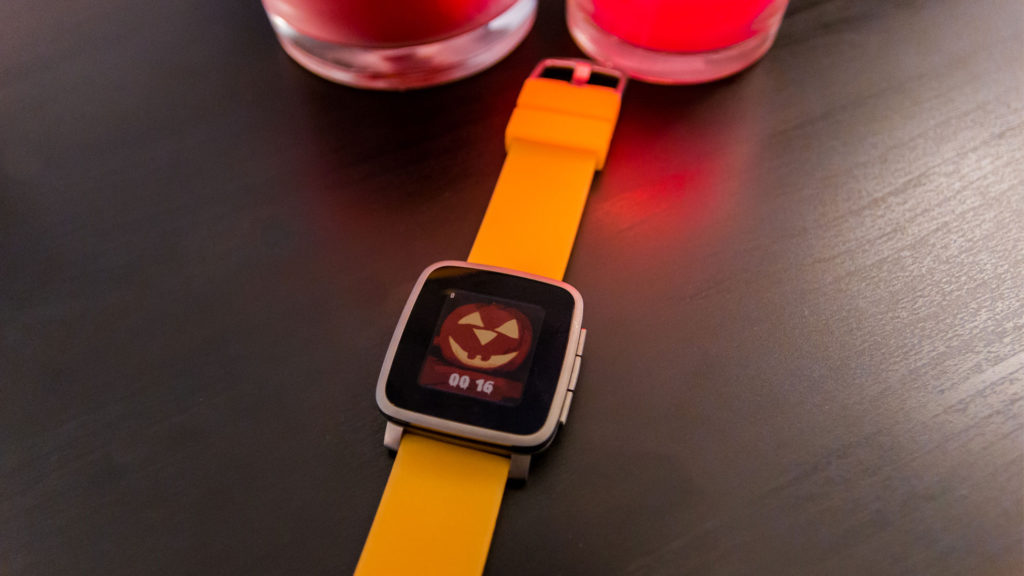 Pebble Watchface: Halloween Pumpkin